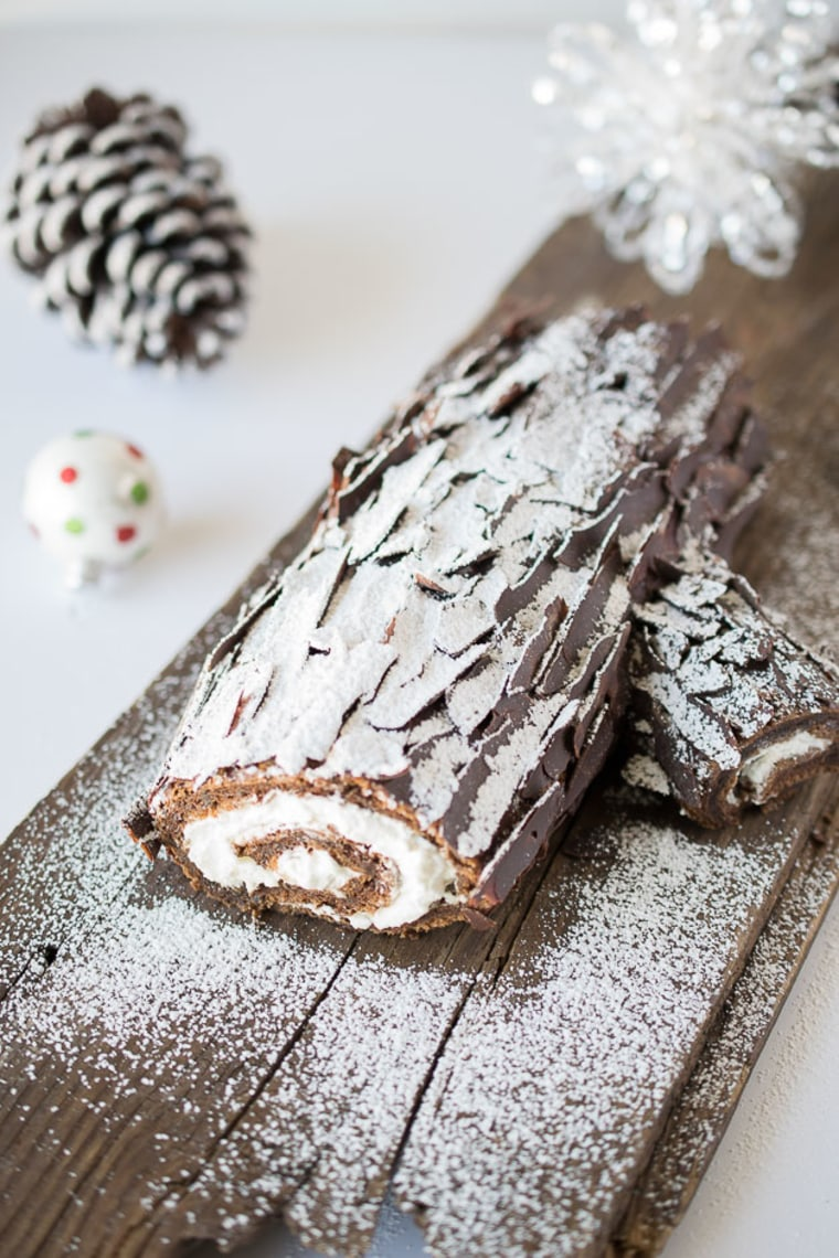 Chocolate yule log by TODAY Food Club member Janette Fuschi