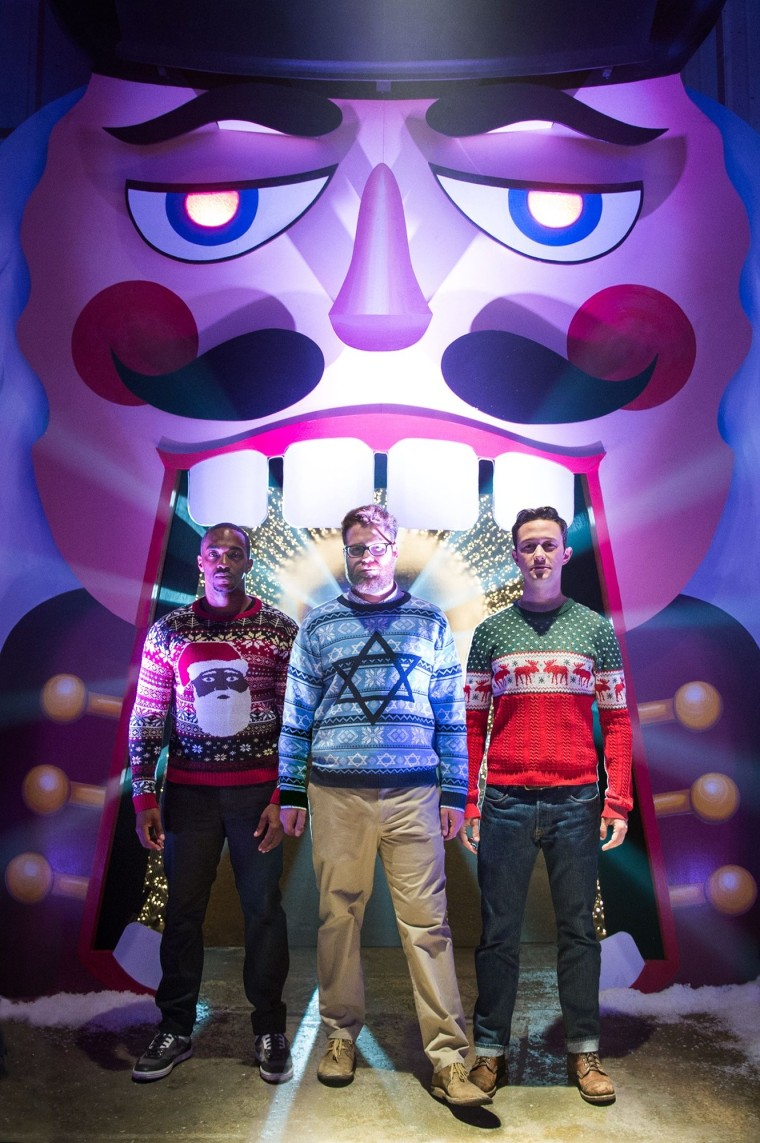 """The 2015 movie """"The Night Before"""" features, lifelong buddies Ethan (Joseph Gordon-Levitt), Isaac (Seth Rogen) and Chris (Anthony Mackie) who got together every Christmas Eve to celebrate the holidays in New York City. As Isaac prepares to become a first-time father, the friends realize that their annual tradition is coming to a sad end. To make it as memorable as possible, they plan a night of debauchery and hilarity by searching for the Nutcracka Ball, the Holy Grail of Christmas parties."""