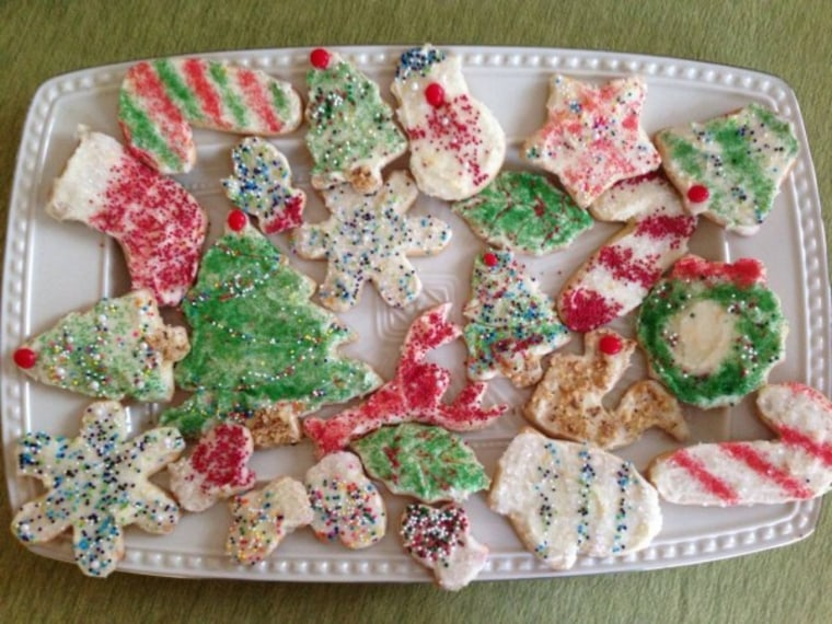 Christmas cookies by TODAY Food Club member Donna S.