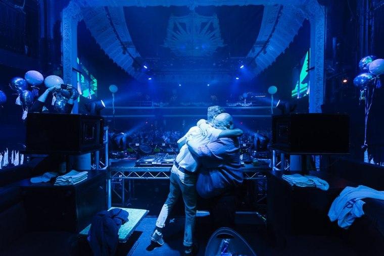 Sean O'Brien hugs DJ Tropicool