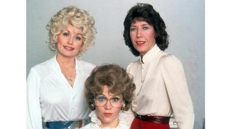 Dolly Parton, Jane Fonda, And Lily Tomlin In 'Nine To Five'