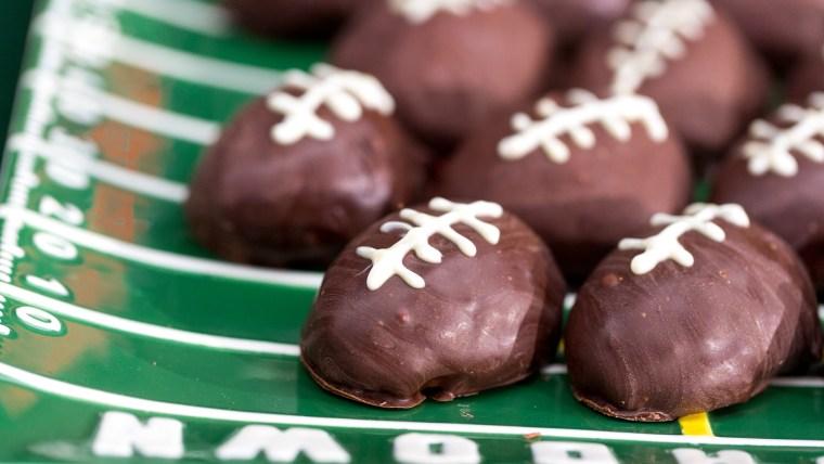 Brandi Milloy's chocolate chip cookie dough footballs