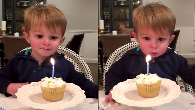 Little Boy Can't Blow Out Candle