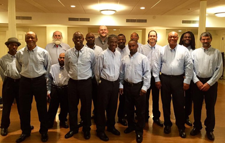 Members of the choir in the new uniforms they will wear to perform at the White House.