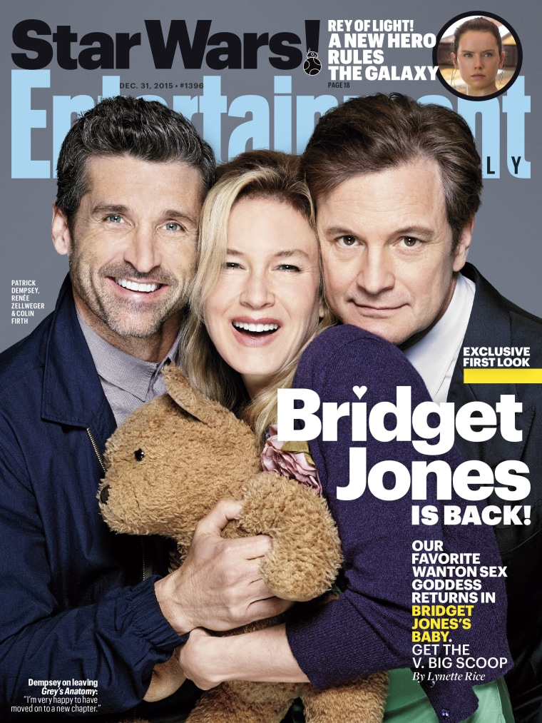 'Bridget Jones's Baby' EW cover with Renee Zellweger, Colin Firth and Patrick Dempsey