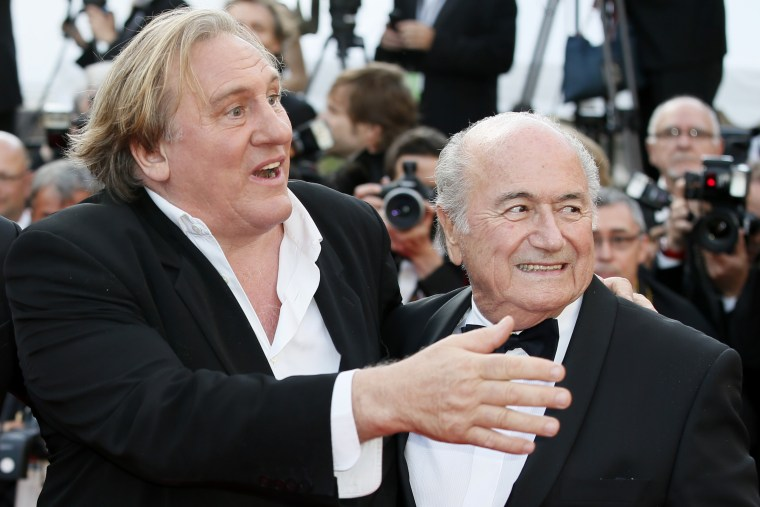 IMAGE: Gerard Depardieu and Sepp Blatter