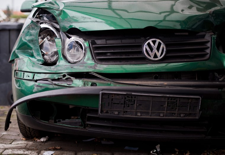 Image: A damaged Volkswagen car
