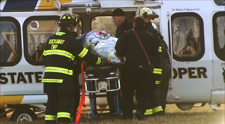 Image: Scoutmaster Christopher Petronino being airlifted to hospital