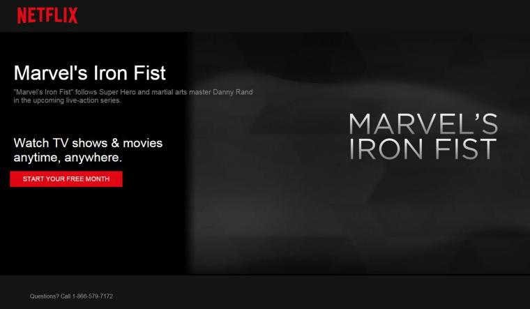 Marvel's Iron Fist.