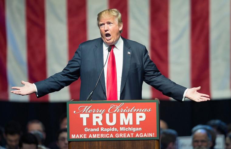 Image: Donald Trump Campaigns In Grand Rapids