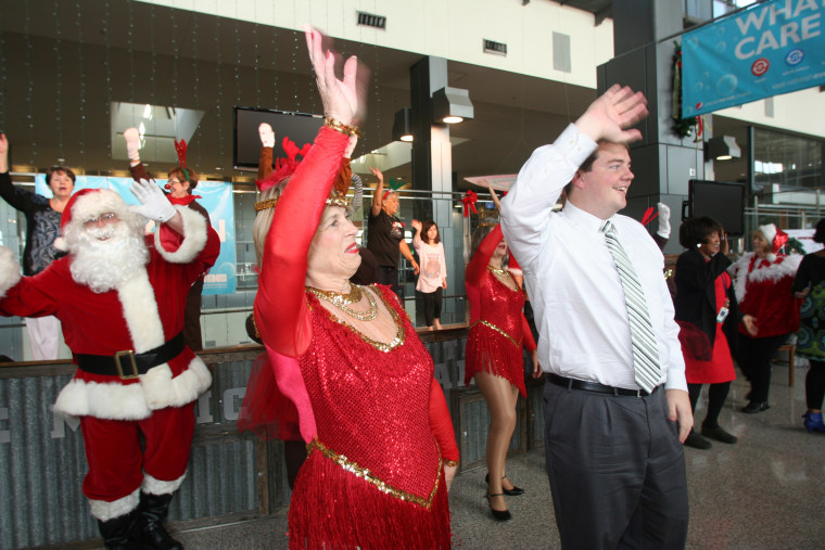 The Judy Lee Dancers are holiday favorites at Austin Bergstrom International Airport.