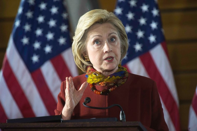 Image: Democratic presidential candidate Hillary Clinton talks about her counterterrorism strategy during a campaign stop in Minneapolis, Minnesota