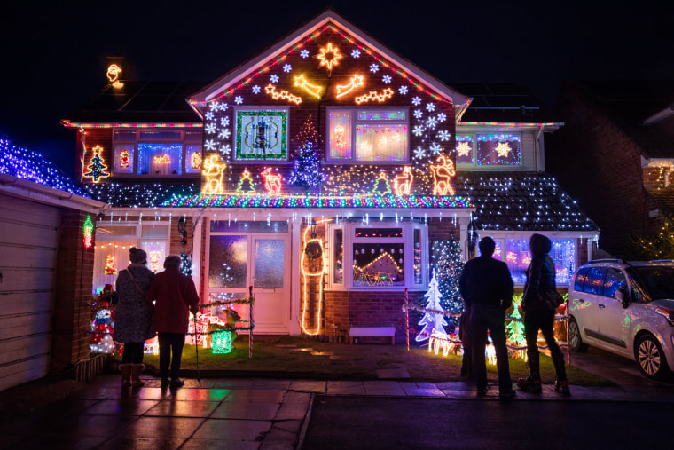 Image: Homeowners Light Up Their Houses For Christmas