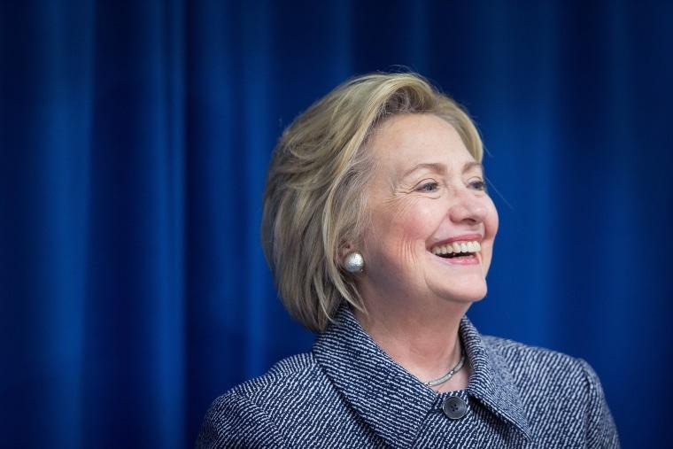 Image: Democratic Presidential Candidate Hillary Clinton Campaigns In Bettendorf, Iowa