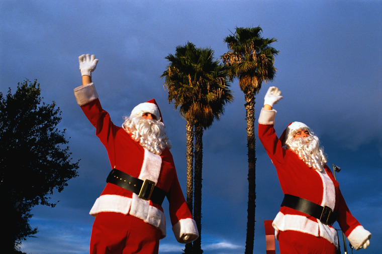 Image: Santas under the palm trees