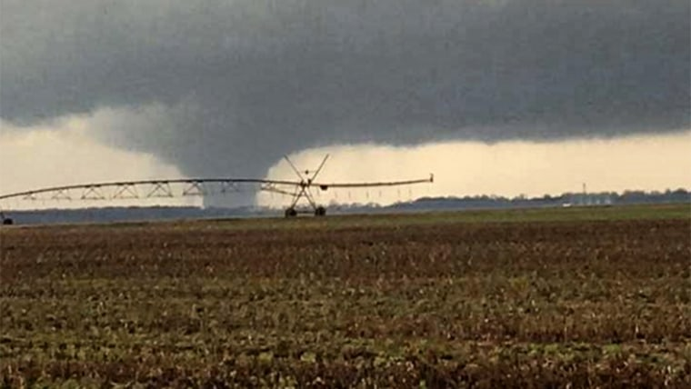 A tornado was spotted Wednesday in Clarksdale, Mississippi.