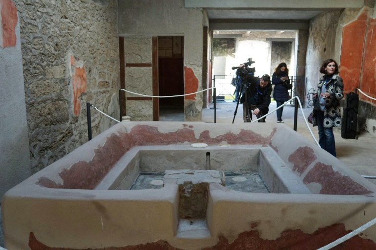 Image: Restored Pompeii domus in ancient Roman city