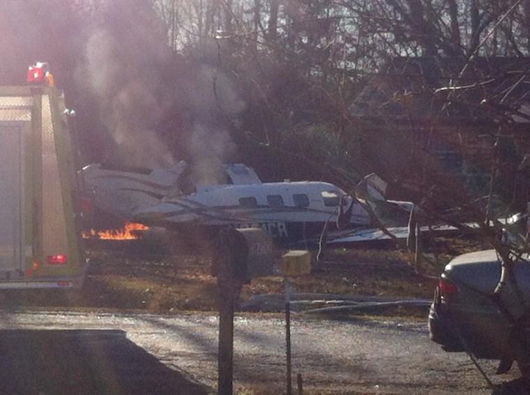 Image: Mississippi Plane Crash Alcorn County, Mississippi