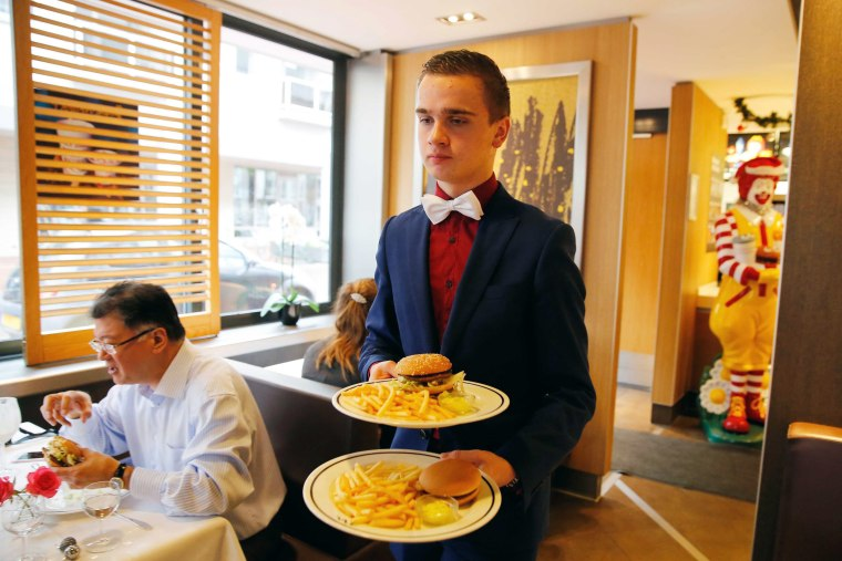 Image: Christmas Day lunch at fast food restaurant