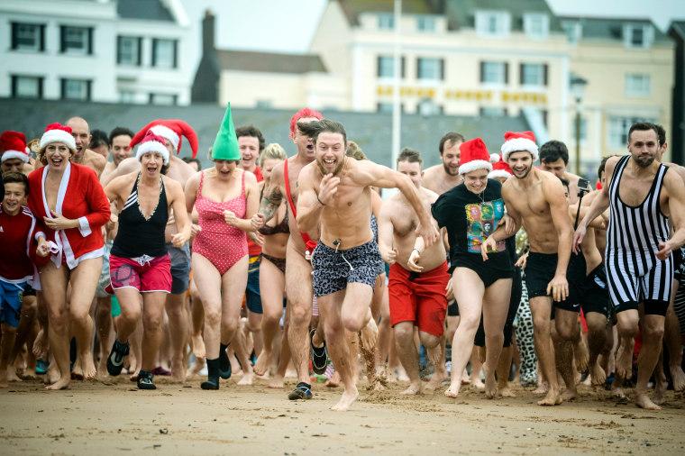 Image: Exmouth Christmas day swim