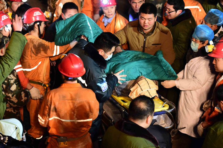 Image: China Mine Collapse Traps 18 Workers