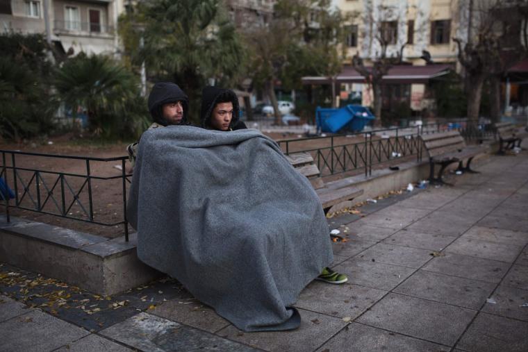 Image: TOPSHOT-GREECE-EUROPE-MIGRATION-MIGRANTS