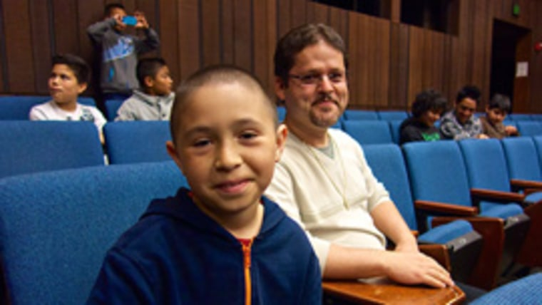 Teacher Oscar Ramos takes 5th and 6th graders, including José Anzaldo, to visit UC Berkeley, part of the 'East of Salinas' documentary.