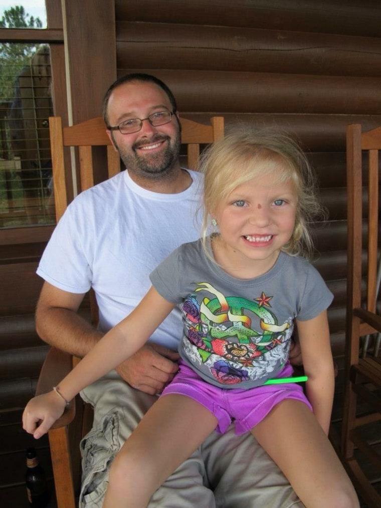"Sophia Feller, founder of ""Heaven Sent It,"" with her dad, Nicolas Feller"