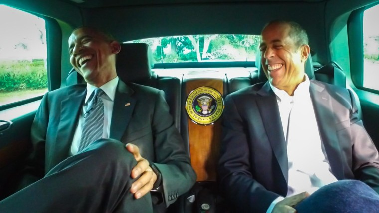 """President Barack Obama appears in an episode of Jerry Seinfeld's """"Comedians in Cars Getting Coffee."""""""