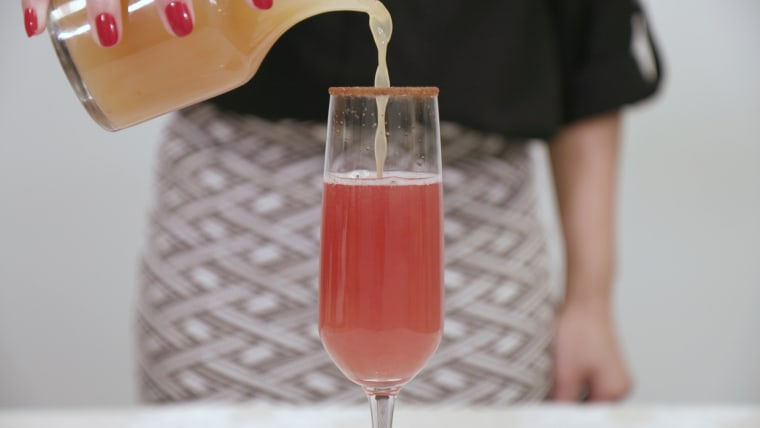 Holiday Sparkler cocktail