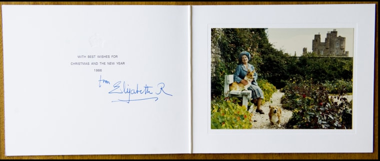 BNPS.co.uk (01202 558833) Pic: Phil Yeomans/BNPS  The Queen Mother at Castle of Mey in Xmas 1986.  A Royal Xmas cards sent to a member of staff and hand signed by the Queen Mother is being auctioned by Dukes of Dorchester.