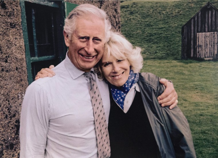 Image: Christmas card of the Prince of Wales and Duchess of Cornwall