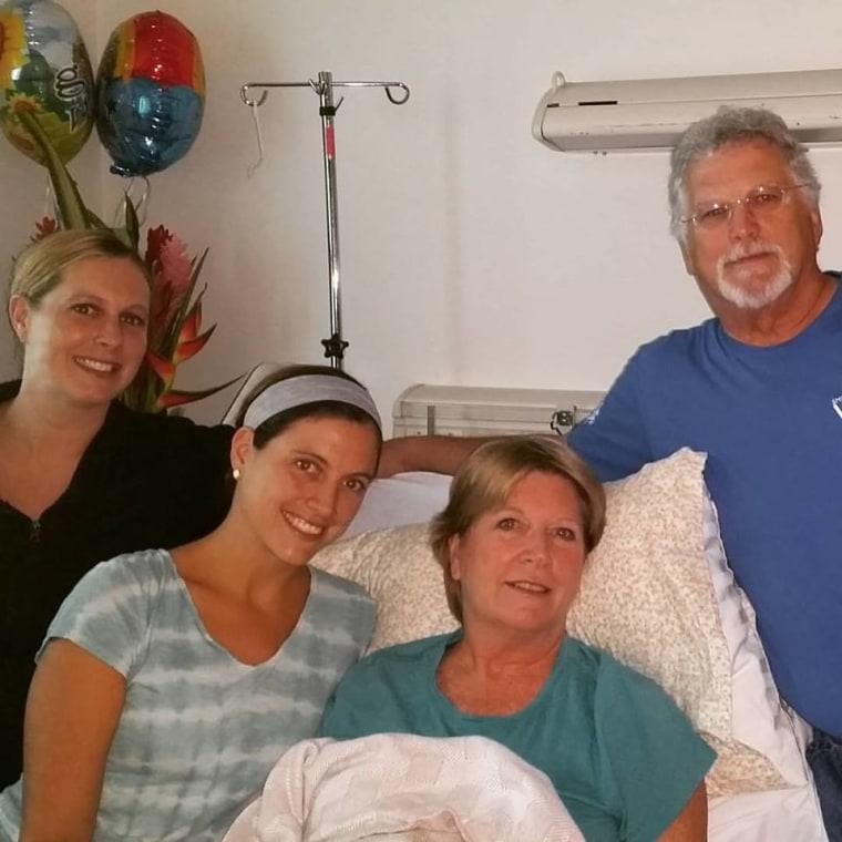 Virginia shooting victim Vicki Gardner with her family
