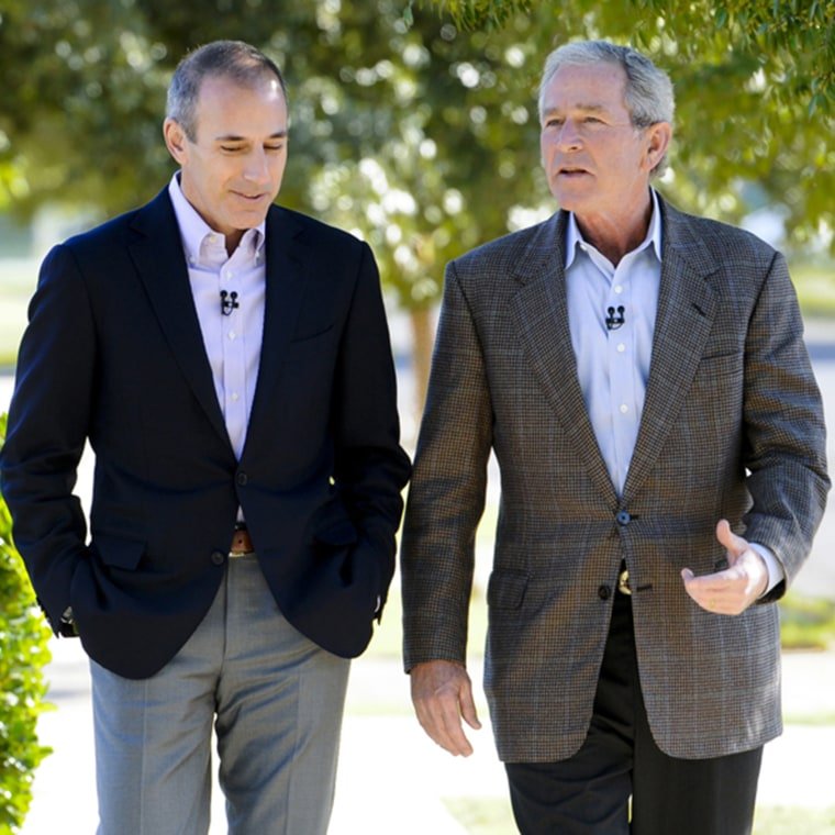 Matt Lauer interviews George W. Bush about his presidency