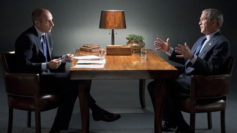 Matt Lauer interviews George W. Bush