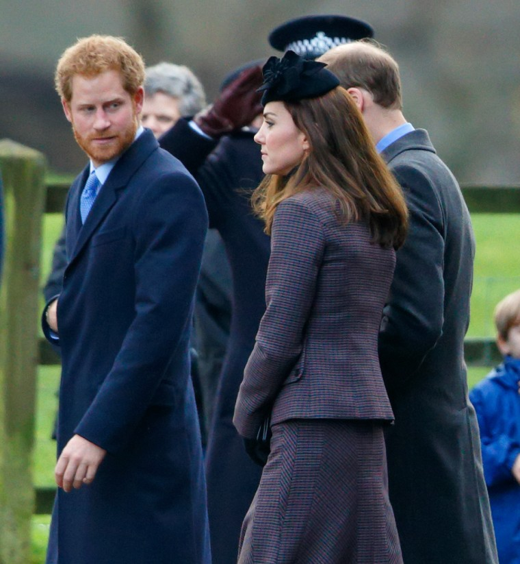 Prince Harry, Duchess Catherine of Cambridge and Prince William attend Sunday services at St Mary Magdalene Church, Sandringham.