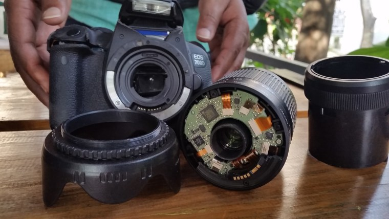 Madhesi journalist Bikram Rauniyar said his camera was smashed by police in Nepal for photographing the beating of a fleeing protester.