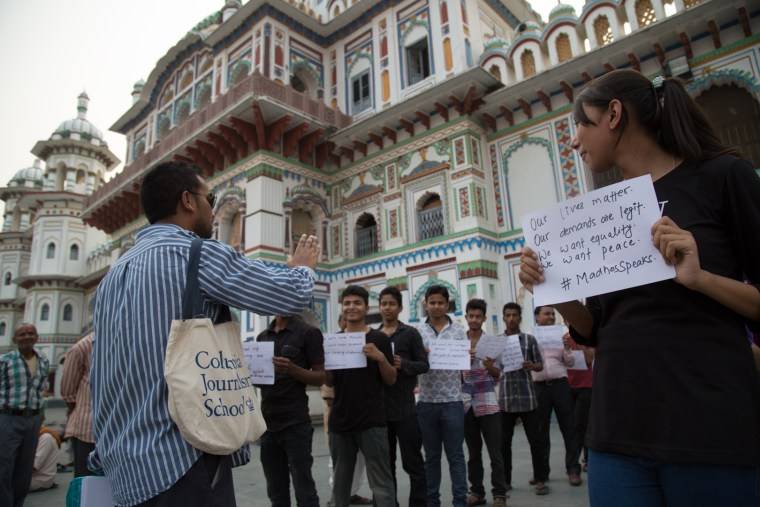 Ravi Kumar helps Madhesis protest Nepal's new constitution in a new way.