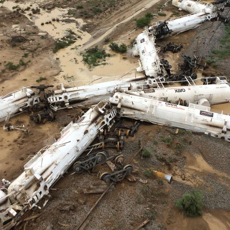 Image: AUSTRALIA-TRAIN-INDUSTRIAL-ACCIDENT