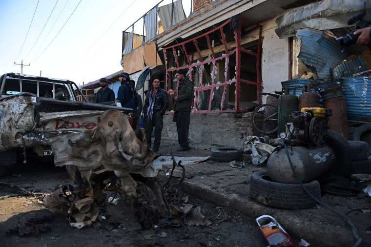 Image: Four civilians were wounded in the early morning attack in Kabul.