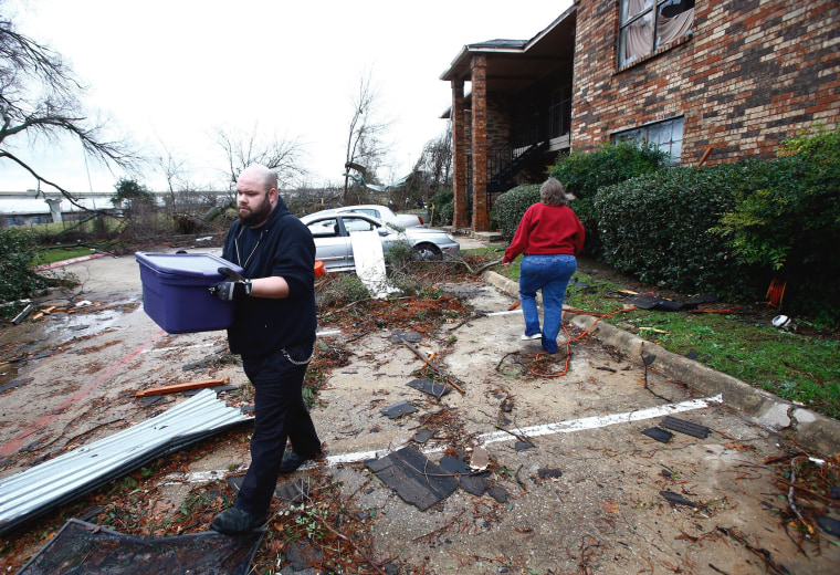 Image: Multiple tornados cause sever damage and multiple deaths in the Dallas