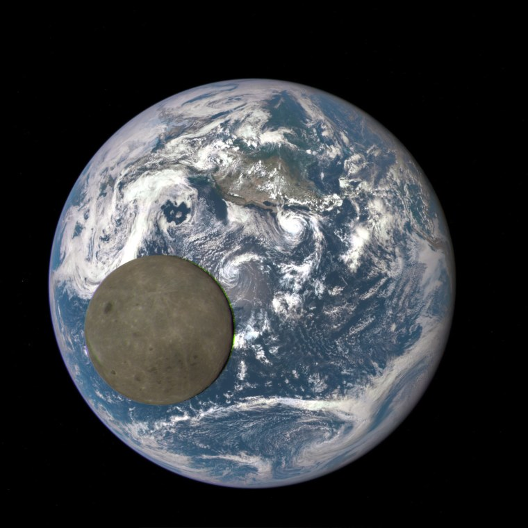 Image: Moon and Earth from one million miles away