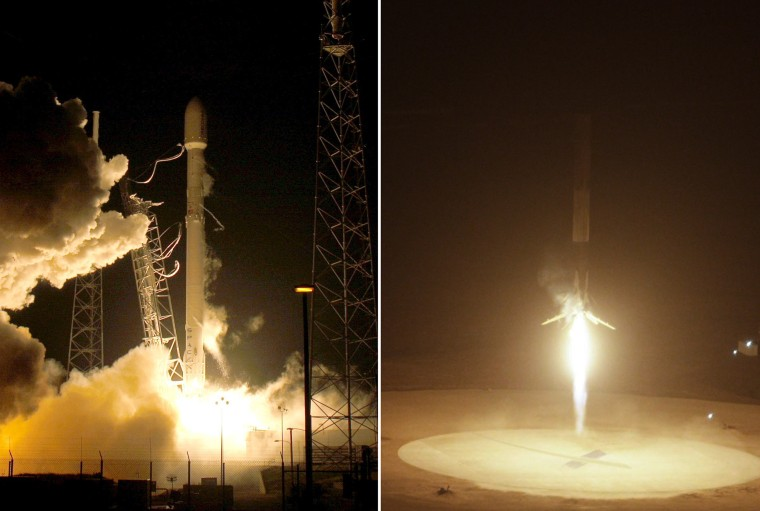Image: A remodeled version of the SpaceX Falcon 9 rocket lifts off  at the Cape Canaveral Air Force Station in Cape Canaveral