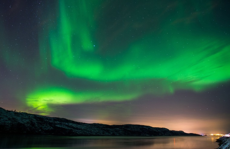 Image: TOPSHOTS-NORWAY-SPACE-WEATHER-AURORA