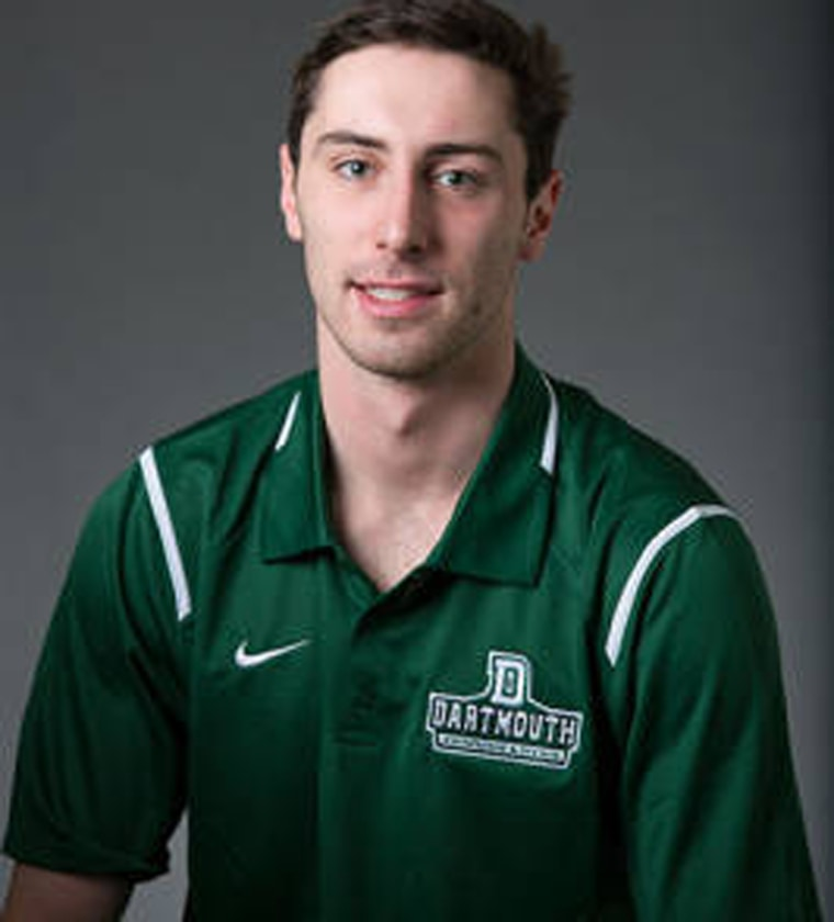 Dartmouth College swimmer Tate Ramsden