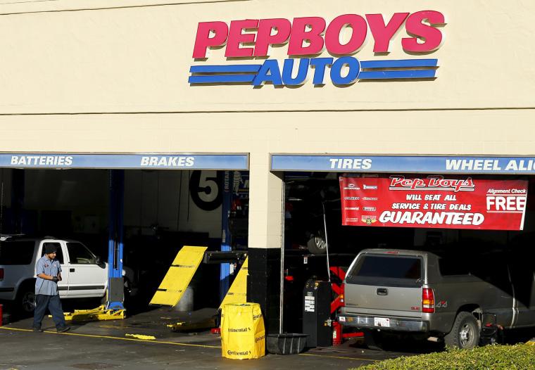 Image: A Pep Boys auto parts store is shown in Encinitas, California