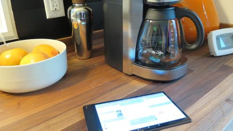 Image: Intel Smart Home coffee maker and tablet