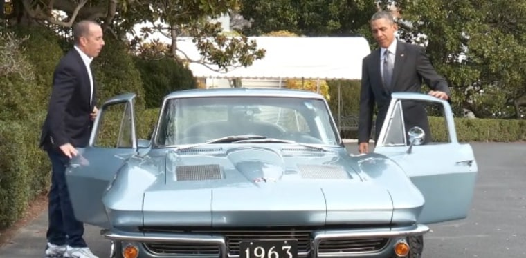 IMAGE: President Obama and comedian Jerry Seinfeld
