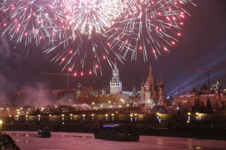 Image: New Year celebration on Red Square in Moscow