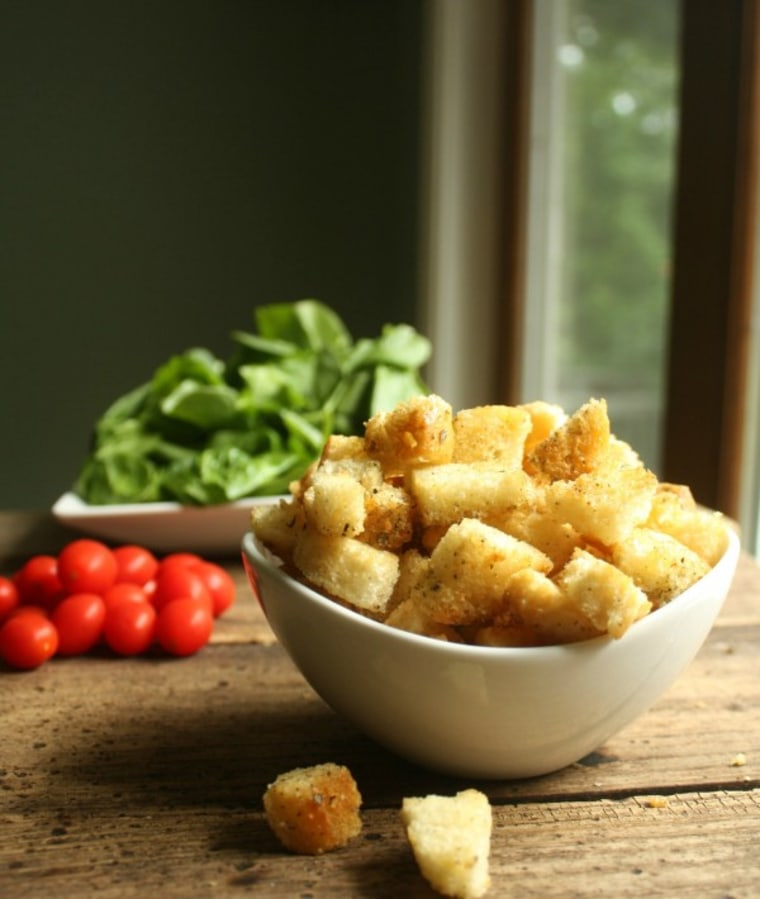 Homemade croutons by TODAY Food Club member Stephanie of Daily Appetite